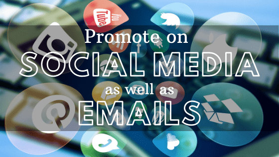 Building a successful webinar strategy - Promote on social media emails
