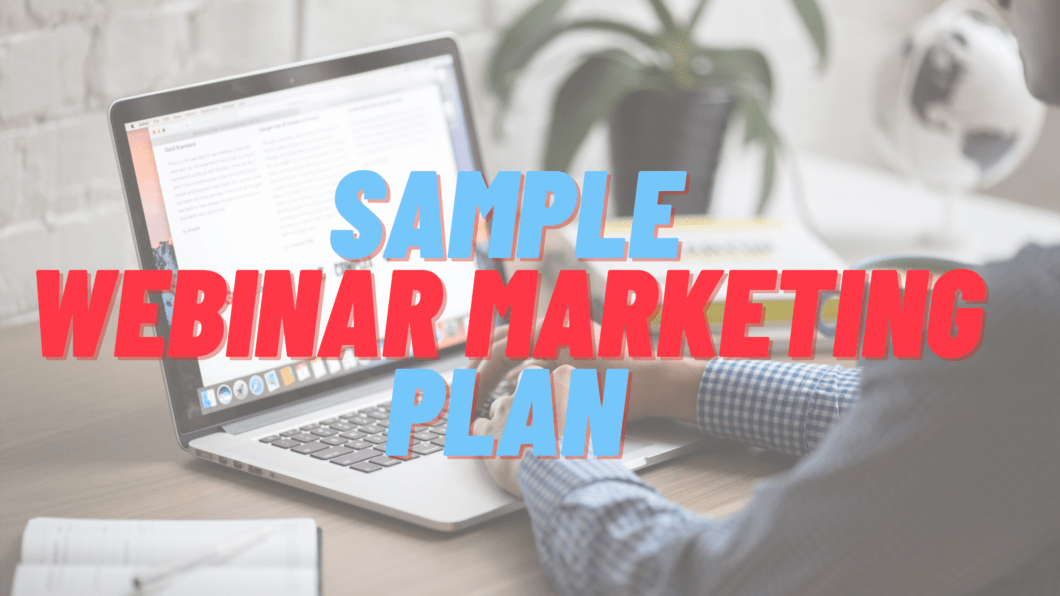 Sample Webinar Marketing Plan